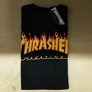 Thrasher Tops - Thrasher Black Flames (Woman)